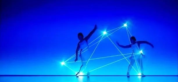 Light technology combined with dance