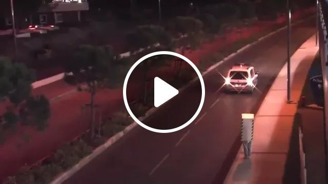 police car followed a man on the road, police car, followed, road, luxury car, luxury vehicle
