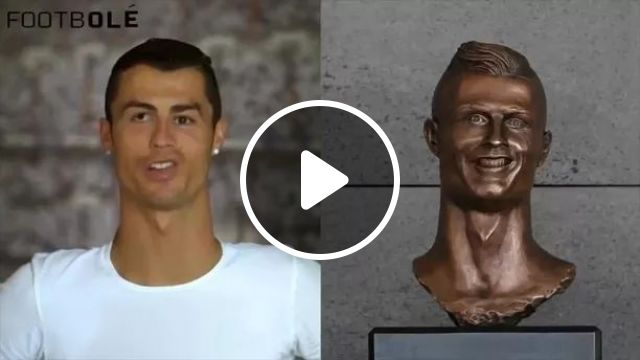 Statue from cristiano ronaldo player