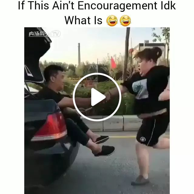 Girl Chasing Car To Lose Weight And Protect Health - Video & GIFs | women, fat, chase, luxury car, weight loss, humor