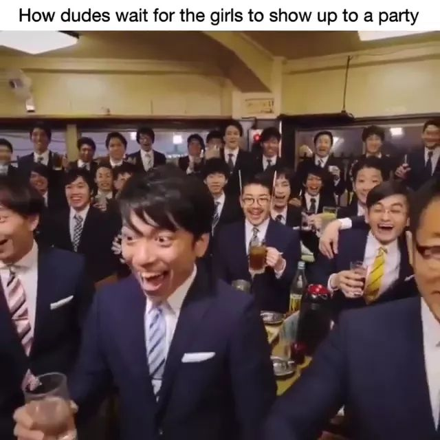 How dudes wait for girls to show up to a party - Video & GIFs   dudes, men's fashion, party, luxury vest