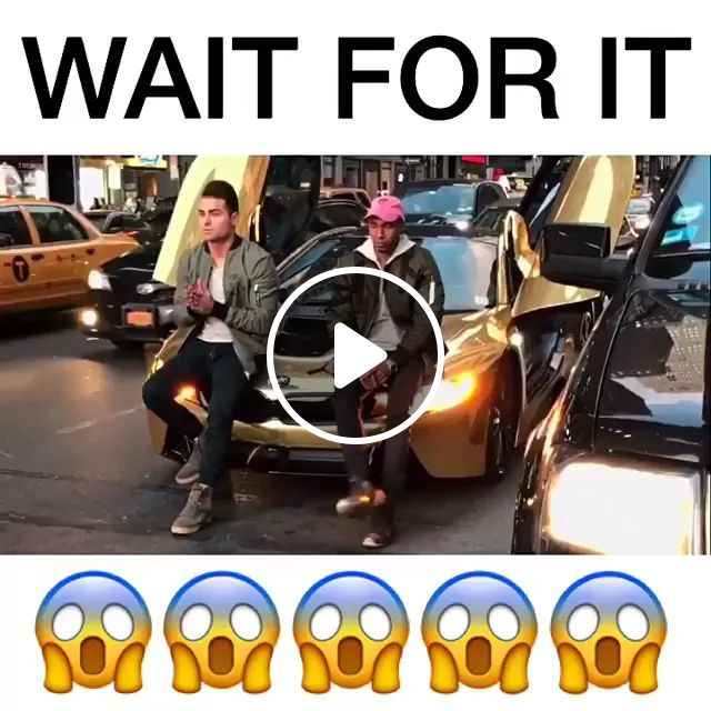 Fashion Boys In Front Of Luxury Car On The Street - Video & GIFs   man, supercar, stop, street, selfie, phone, traffic jam, angry, luxury vehicle