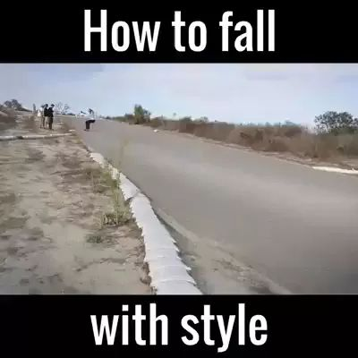 He skated from high speed downhill
