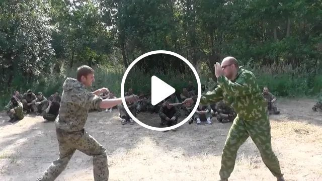 In army, two soldiers are being trained in martial arts, army, warrior, knife, fight, troll, training