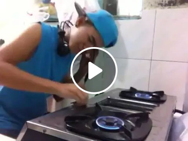 DJ everywhere, dj, gas stove, fire, performance