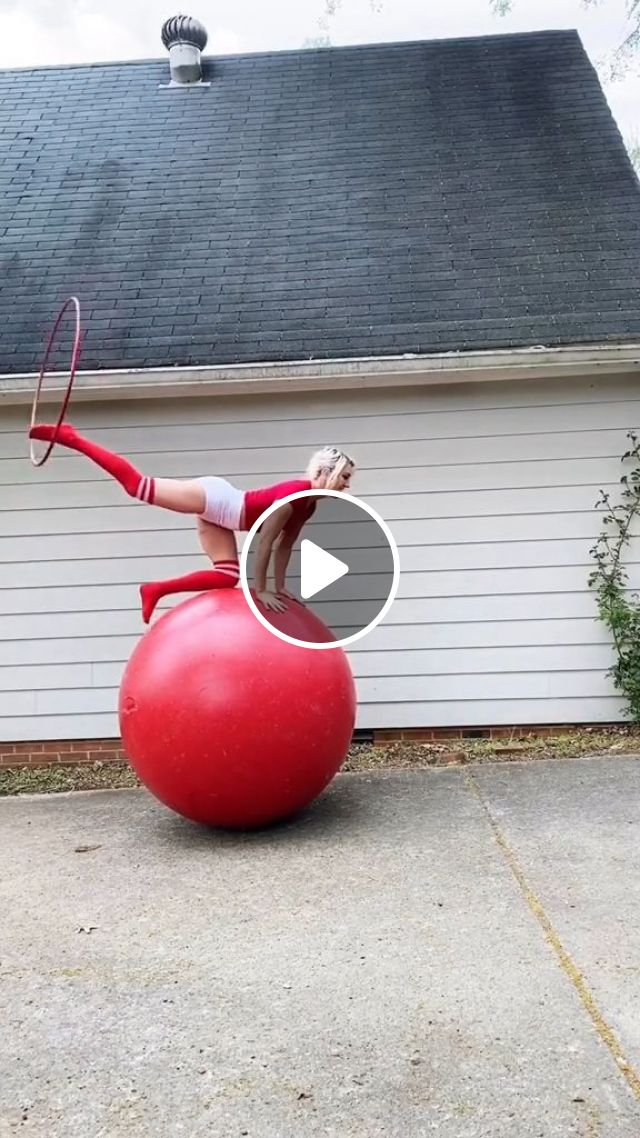 Balance Exercise On The Rubber Ball - Video & GIFs | sports clothes, sports equipment