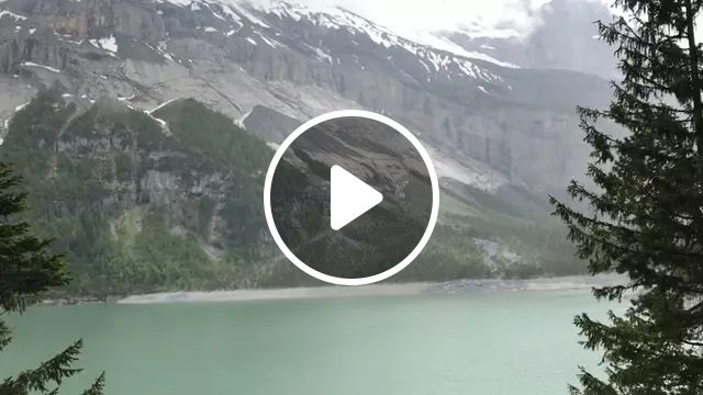 Switzerland Travel, Quick Clip Of A Mountain Goat I Spotted While Hiking Around Oeschinen Lake In Kandersteg, Switzerland. I Was Hanging Off The Cliff's Edge To Get A Better View; It Was Both Terrifying And Beautiful. - Video & GIFs | reddit, travel, quick_clip_of_a_mountain_goat_i_spotted_while