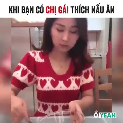 Girl making cakes in kitchen