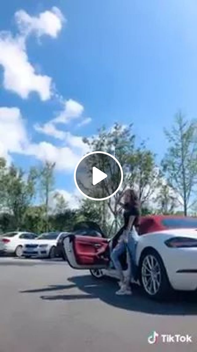 Girl taking photos next to sports car with her smartphone, Girl, female fashion, photo taking, sports car, luxury car, smart phone