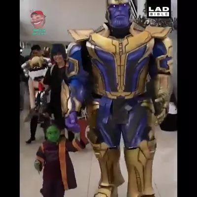 Father and son with clothes during carnival - Video & GIFs | father, child, fashion, festival, costume