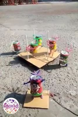 idea and skillful too, look lovely - Video & GIFs | handmade, cans, craft, toys, children, performances