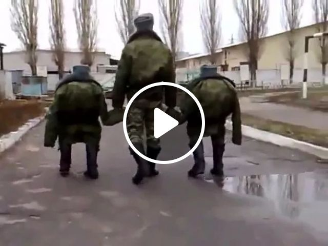 Three soldiers with uniforms
