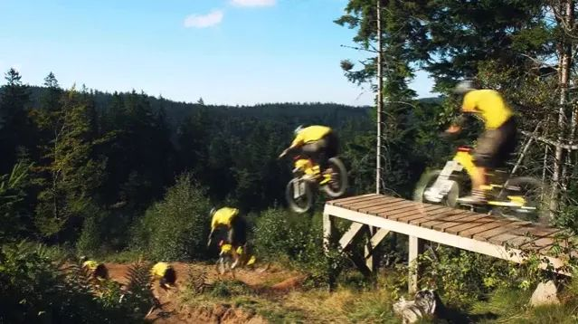 Athletes driving terrain bikes are excellent