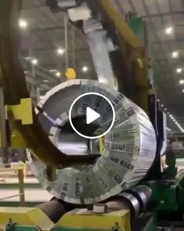 Steel Factory With Automatic Technology - Video & GIFs | science, technology, steel factory, automatic machine, iron export, business