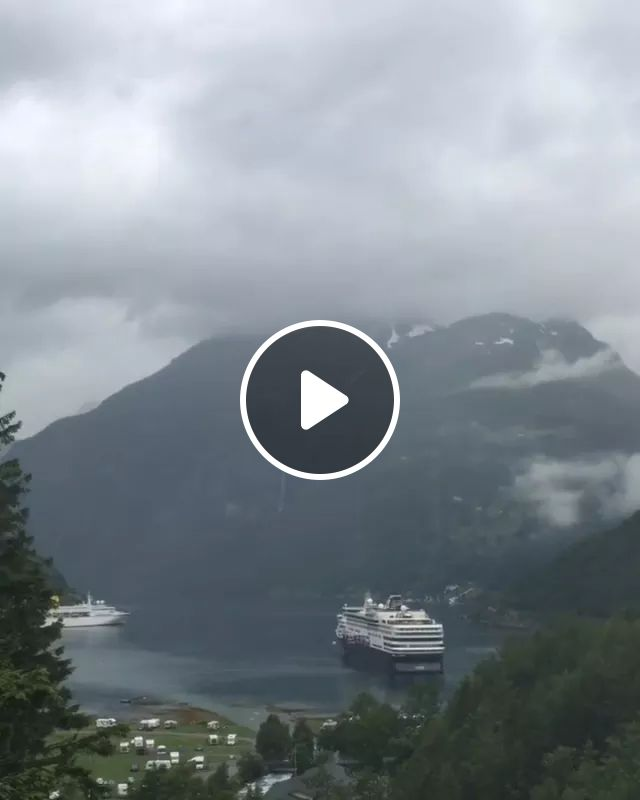 Beautiful Scenery At Geirangerfjord In Norway. - Video & GIFs | nature, travel, attractions, geirangerfjord, norway travel