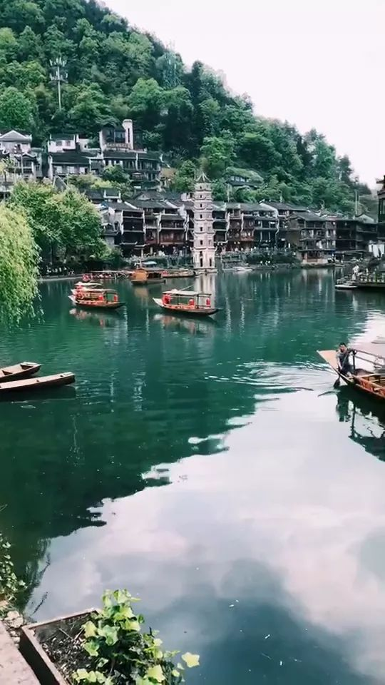 Hunan Fenghuang (Phoenix) Ancient Town, an old town built up in Qing Dynasty in China