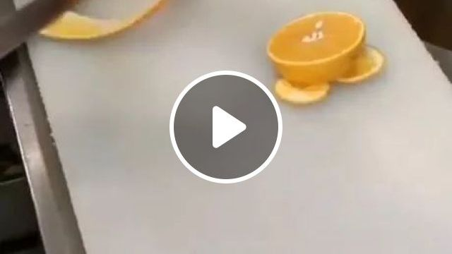 Cutting An Orange With Ease - Video & GIFs   decorate food, orange juice, cooking utensils