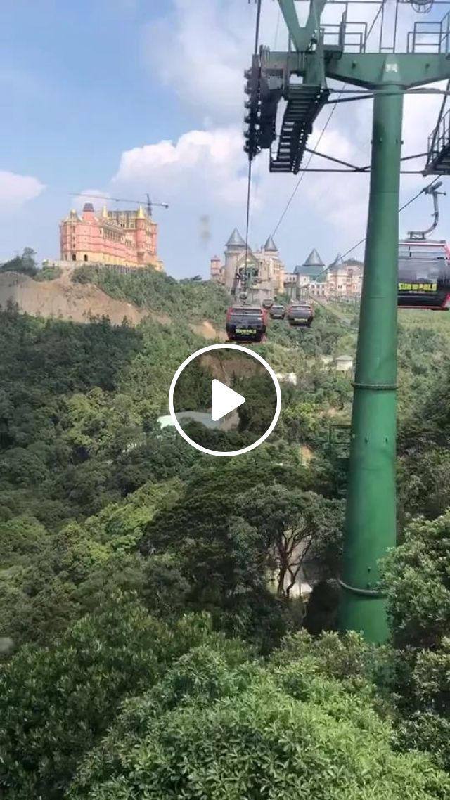 Ba Na Hill Cable Car Tour In Vietnam - Video & GIFs   cable car tour, ba na hill, vietnam travel, beautiful scenery