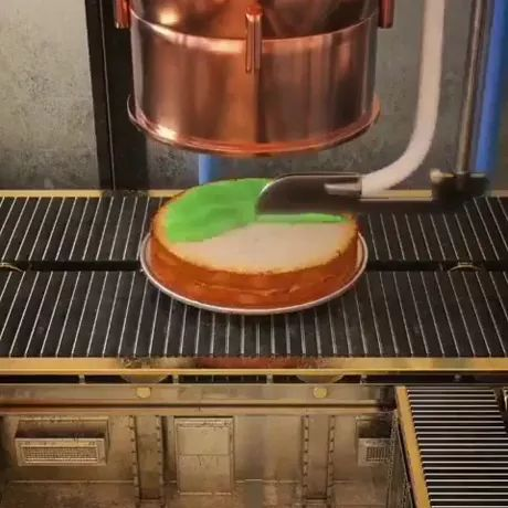 Automatic ice cream production technology - Video & GIFs   technology,ice cream production,automatic,automatic machines