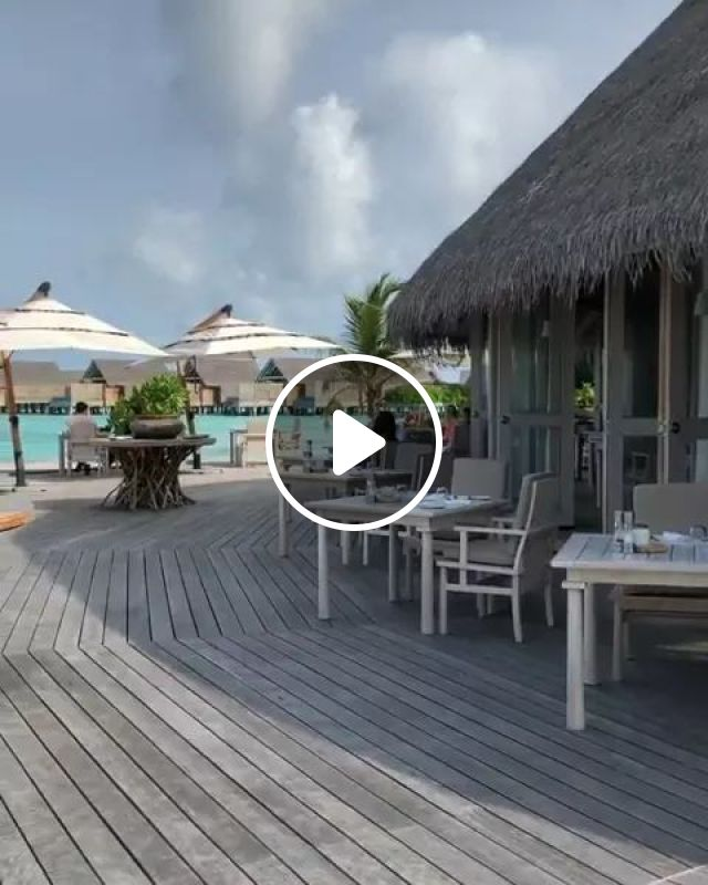 Breakfast In One Of My Favorite Places In World Maldives - Video & GIFs   nature, travel, beautiful scenery, milaidhoo island, maldives travel, sea travel