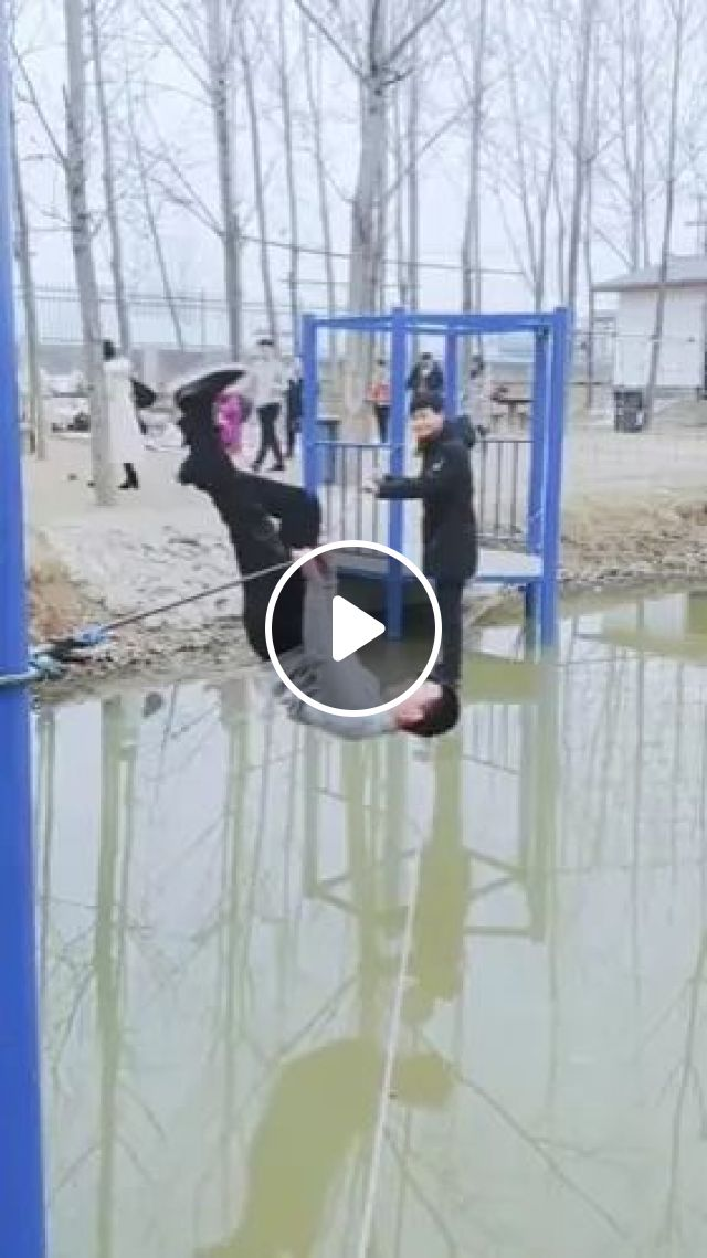 Man With Ability To Balance On The Rope - Video & GIFs | man, male fashion, fashion shoes, ability, balance, on rope