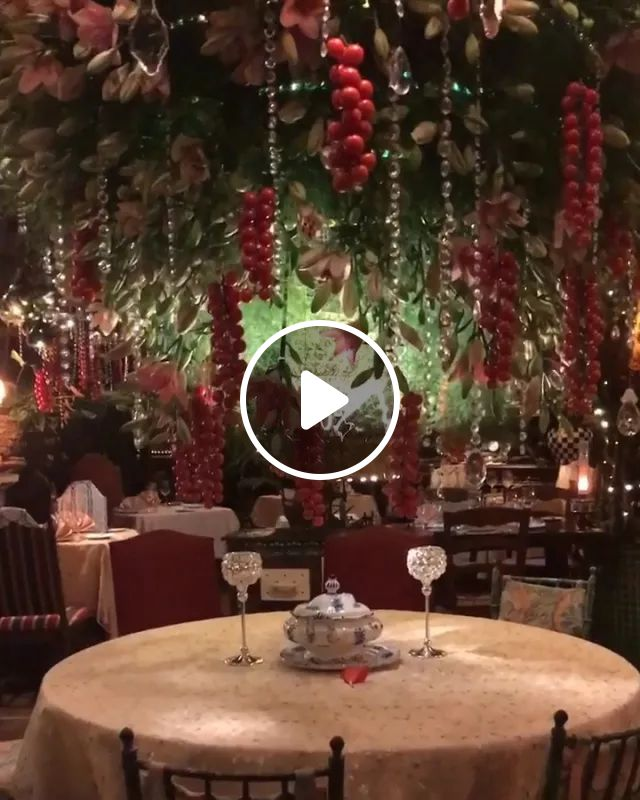 Fantastic Dining Experience In An Unbelievably Beautiful Floral Setting - Video & GIFs   nature, travel, mas provencal travel, luxury restaurants
