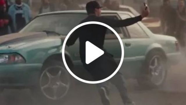 A Man Using A Smartphone Took A Selfie Photo Of A Car Drifting On The Road - Video & GIFs | man, using a smartphone, took a selfie photo, luxu ry car, drifting, road