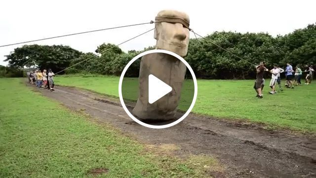 Travel To Easter Island To See Moving Stone Statues - Video & GIFs | Chile travel, easter island, see, moving stone statues