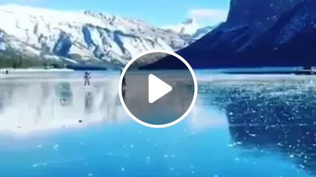 Lakes Of Banff, Alberta, Canada Are Well Known For Their Incredible Clarity - Video & GIFs | lake banff, alberta, canada, tourism, famous, winter fashion, incredible clarity