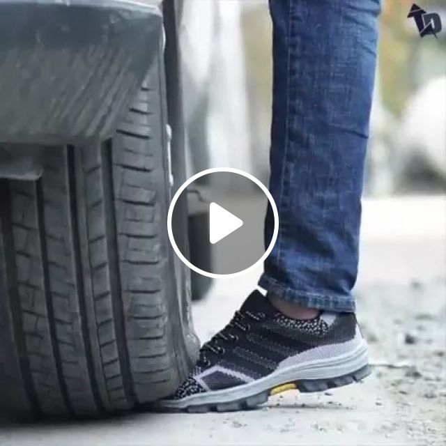 Safest And Toughest Footwear - Video & GIFs   car, bearing shoes, street, good, cutting machines