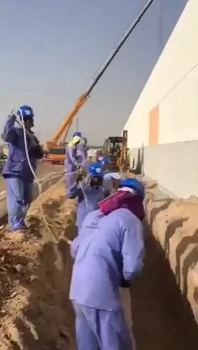 Smart workers in digging soil
