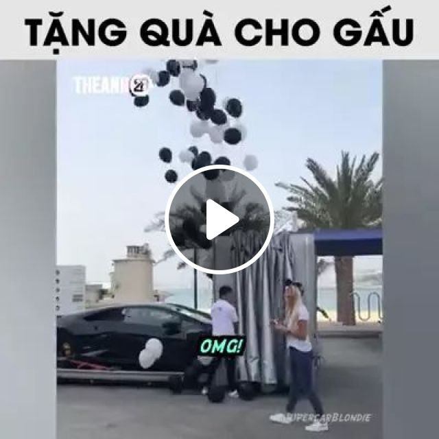 He gave girl a gift of a luxury car.