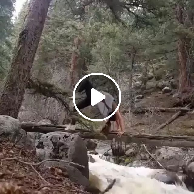 In Forest, Fresh Air Is Very Good For Women To Exercise Yoga To Protect Their Health - Video & GIFs | forest, fresh air, very good, for women, sports fashion, yoga, health protection