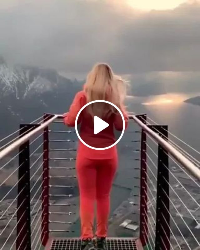 Girl Traveling To Andalsnes, Norway - Video & GIFs   girl, tourism, andalsnes, norway, tourists, female fashion