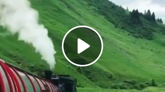 Travel by train across mountain is very interesting, Japan travel, train, mountain, very interesting