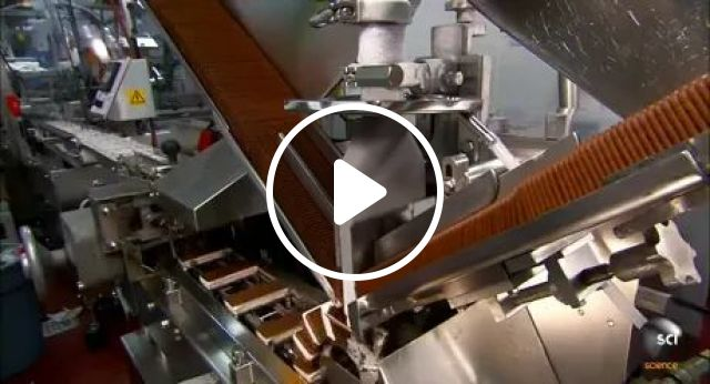 Technology To Produce Ice Cream Biscuits With Automatic Machines - Video & GIFs | technology, manufacturing, ice cream biscuits, automatic machines, commercial cakes