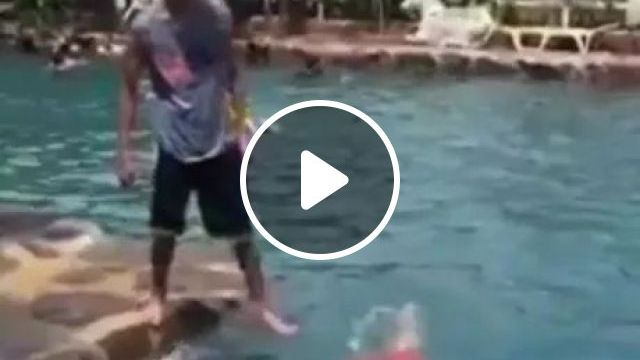 A Good Captain Goes Down With Ship - Video & GIFs | swimming pool, amusement park, tourists