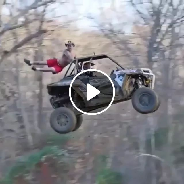 Off-road Vehicle Launched Into Air With Man - Video & GIFs   terrain vehicle, men, male fashion, sports car, strong engine, car parts, technology, engines