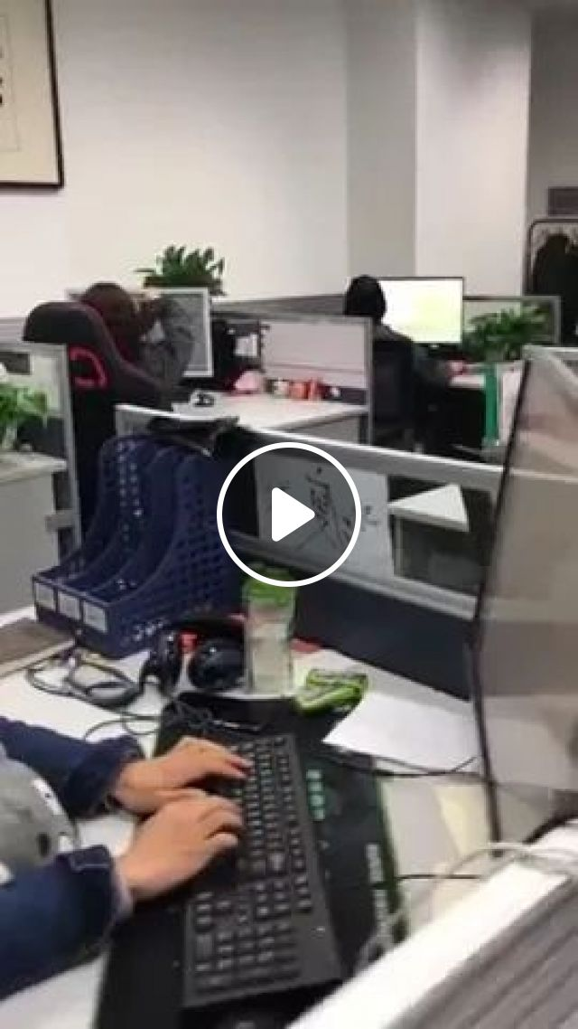 Office Workers Are Very Smart And Many Ideas - Video & GIFs | office staff, offices, office equipment, computers, office tools, smart, many ideas
