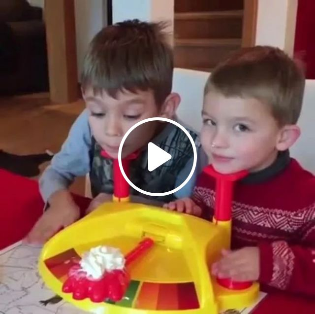 Kids play toys very fun, humor, children, cake, competition, toys