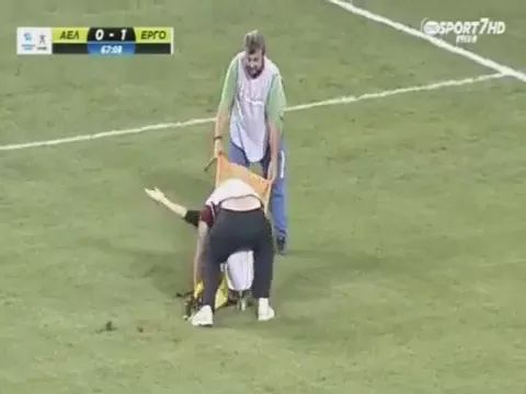 doctor took player out of football field