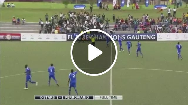 goalkeeper ran to middle of field to celebrate goal but was unlucky, goalkeeper, bad luck, scoring goals, funny