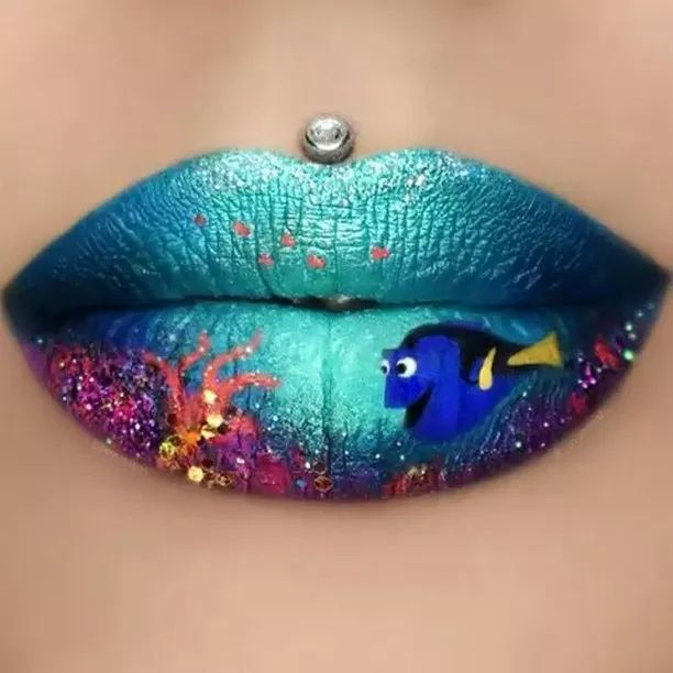 Lipstick with beautiful colors - Video & GIFs | Lipstick, makeup tools, makeup art, lipstick colors,nemo,dory