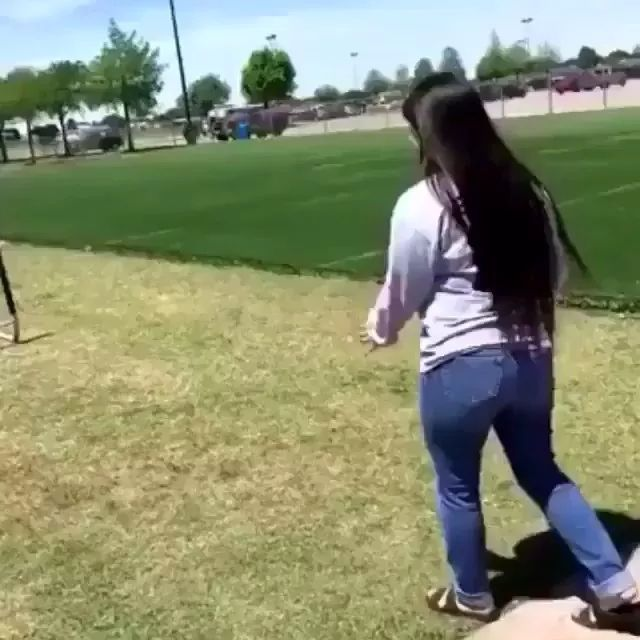 girl fell while trying to cross barrier