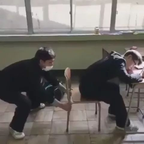 Students playing in school