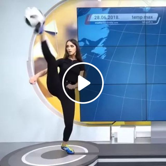 weather forecaster quickly catches ball